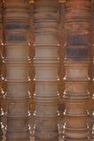 Détail de pilier dans le temple de Banteay Srei Images libres de droits