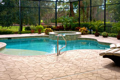 Détail de piscine Photographie stock