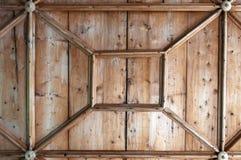 Détail de plafond en bois Images stock