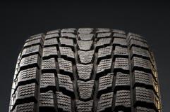 Détail de plan rapproché de pneu de l'hiver Photos libres de droits