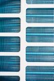 Détail de plan rapproché de système d'échangeur de transfert de chaleur de tube d'aileron de plat photographie stock libre de droits