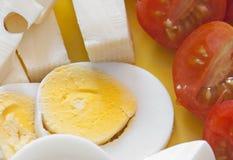 Détail de plaque de petit déjeuner Photo stock
