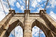 Détail de pont de Manhattan Image stock
