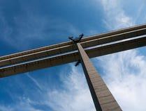 Détail de pont en Autostrada d'aka d'autoroute, Italie Images stock