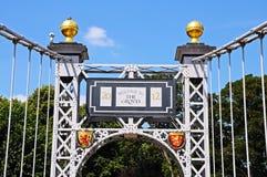 Détail de pont suspendu de Dee, Chester images libres de droits