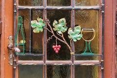 Détail de porte dans la ville d'élevage de vin de Ruedesheim AM Rhein Photo libre de droits