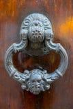 Détail de porte en bois baroque à Carthagène photographie stock libre de droits
