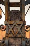 Détail de poteau électrique fait de fer travaillé Image libre de droits