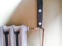 Détail de radiateur et de tuyau Images stock