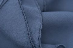 Détail de robe bleue - vrille image stock