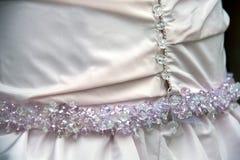 Détail de robe de mariage Photographie stock libre de droits