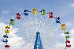 Détail de roue de Ferris sur un ciel bleu Photographie stock