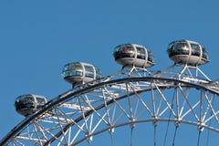 Détail de roue de millénium d'aka d'oeil de Londres Photographie stock libre de droits