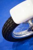 Détail de roue de moto Photo stock