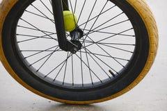 Détail de roue de vélo Style de Bmx Fond de sport Images stock