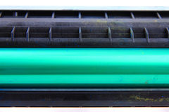 Détail de rouleau de laser d'imprimante photo libre de droits