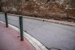 Détail de rue dans le centre ville des Frances de Toulouse Image libre de droits