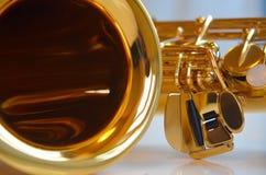 Détail de saxophone Photo libre de droits