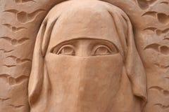 Détail de sculpture en sable Images stock