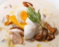 Détail de soupe aux pommes de terre photo libre de droits