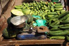 Détail de stalle du marché. Delhi, Inde. Photo libre de droits