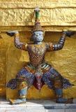 Détail de Stupa d'or, démon Images stock