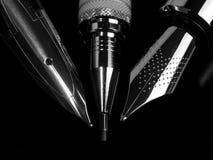 Détail de stylos-plumes Photos libres de droits