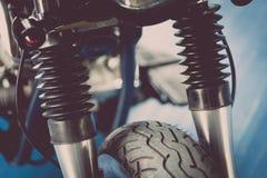 Détail de suspension de moto Photographie stock libre de droits