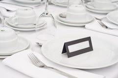 Détail de table de mariage Image libre de droits