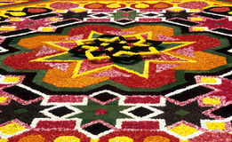 Détail de tapis de fleur Photo stock