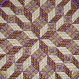 Détail de tapisserie à l'aiguille d'illusion optique Photographie stock