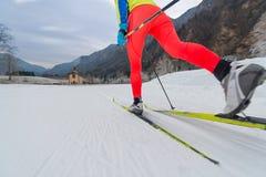 Détail de technique de classique de ski de fond Photographie stock
