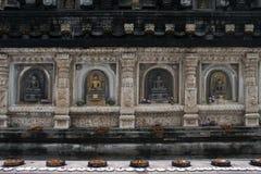 Détail de temple de Mahabodhi dans Bodhgaya Images libres de droits