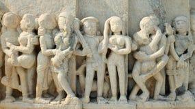 Détail de temple Jain chez Ranakpur, Inde Photos stock
