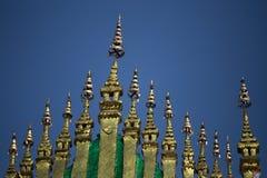 Détail de temple Luang Prabang de lanière de Xieng Images libres de droits