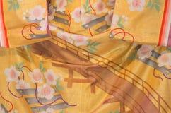 Détail de tissu de kimono Image libre de droits