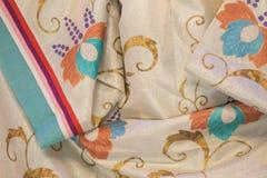 Détail de tissu de kimono Photographie stock libre de droits