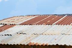 Détail de toit de bidon Photo libre de droits