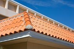 Détail de toit de tuile de baril Photos stock