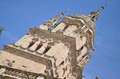Détail de tour de nimo de ³ de Jerà de cathédrale de Salamanque Image stock