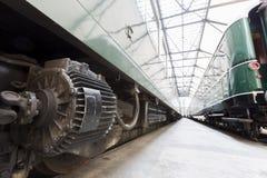 Détail de transmission des trains de voyageurs Photographie stock libre de droits