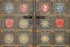 Détail de trappe de cathédrale de Vysehrad Image stock