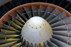 Détail de turbine d'aéronefs Photographie stock