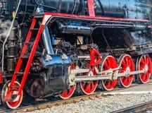 Détail de vieille locomotive à vapeur Images stock
