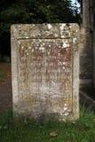 Détail de vieille pierre tombale Photos libres de droits