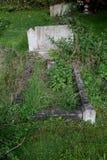 Détail de vieille pierre tombale Photographie stock