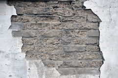 Détail de vieux mur de briques Images stock