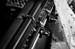 Détail de vieux typewritter Photographie stock