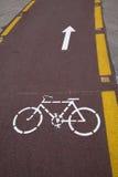 Détail de voie pour bicyclettes de bord de la route Photos libres de droits