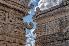 Détail de vue de pyramide de Chichen Itza Mexique image libre de droits